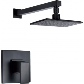 Danze D500562BST Mid-Town Shower Trim Kit (Valve Not Included), 2.5 GPM, Satin Black