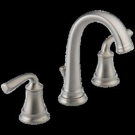 Delta 35716LF-SS-EC0 Lorain Two Handle Widespread Bathroom Faucet, Drain Included, WaterSense