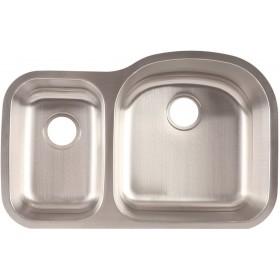 """Franke FCU116 7"""" Deep Stainless Steel Offset Undermount Kitchen Sink"""