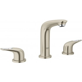 Grohe 20486EN3 Eurostyle 8 in. Widespread 2-Handle Bathroom Faucet, 3-Hole, Brushed Nickel, 1.2 GPM