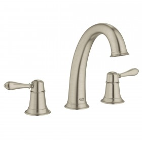 Grohe 25160 Fairborn 3-Hole Two Handle Roman Tub Faucet, Deck Mounted, Widespread