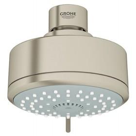 "Grohe 27591EN0 New Tempesta Cosmopolitan 4"" Shower Head, 4 Spray Patterns, Brushed Nickel"