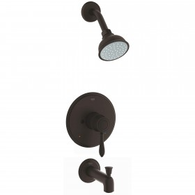 Grohe 35047ZC0 Fairborn Tub and Shower Trim Package with Multi-Function Shower Head, Antique Bronze