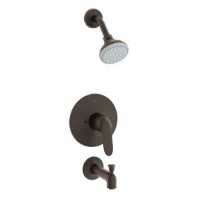 Grohe 35049ZC0 Agira Tub and Shower Trim Package, Multi-Function Shower Head, Antique Bronze