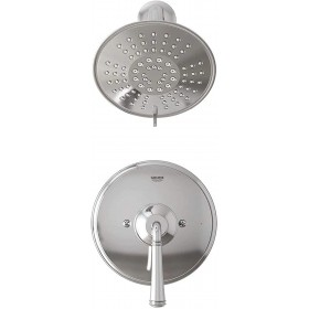 Grohe 35105000 Gloucester 1-Handle Shower Faucet with Pressure Balance Valve, Chrome