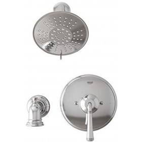 Grohe 35096 Gloucester 1-Handle Bathtub and Shower Faucet with Pressure Balance Valve