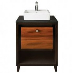 "Porcher 86920-01.605 Porcher Solutions 24"" Shadowbox Vanity Rosewood"